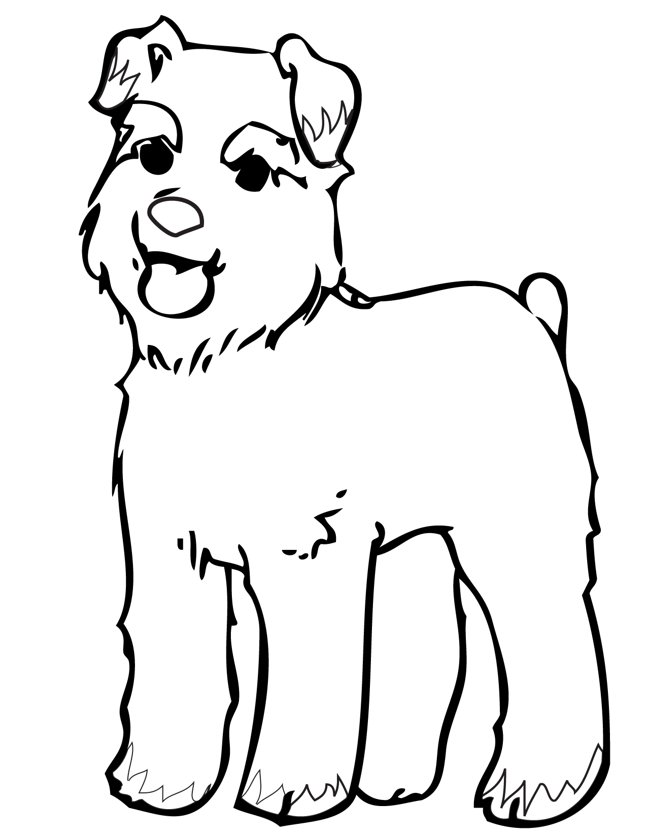 Coloring Pages Of Miniature Schnauzers