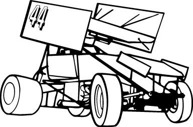 kleurplaat stockcar jrg media sprint car clip clipart