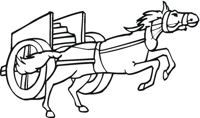 Horse pulling a chariot coloring page | Super Coloring - ClipArt ...