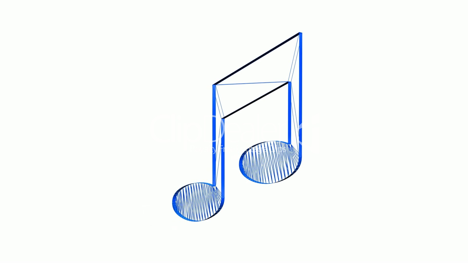 Rotation of 3D music Note.musical,sound,symbol,clef,treble,sheet ...