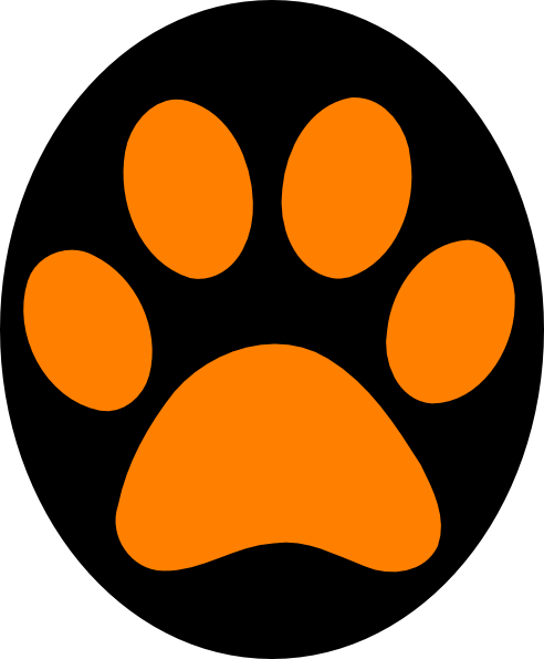 orange and black paw print . Free cliparts that you can download to ...