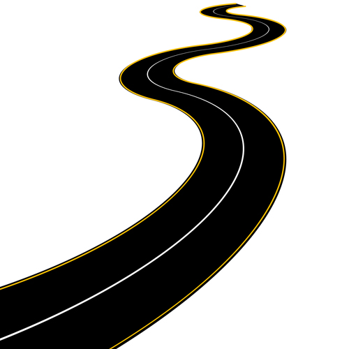 Winding Road Clipart Free Winding Road Silh...