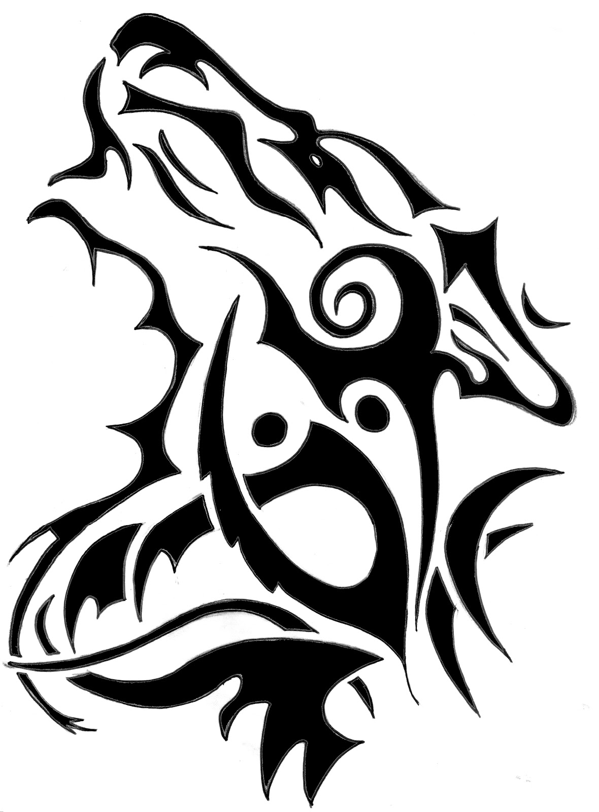 Wolf Outline Drawing - ClipArt Best