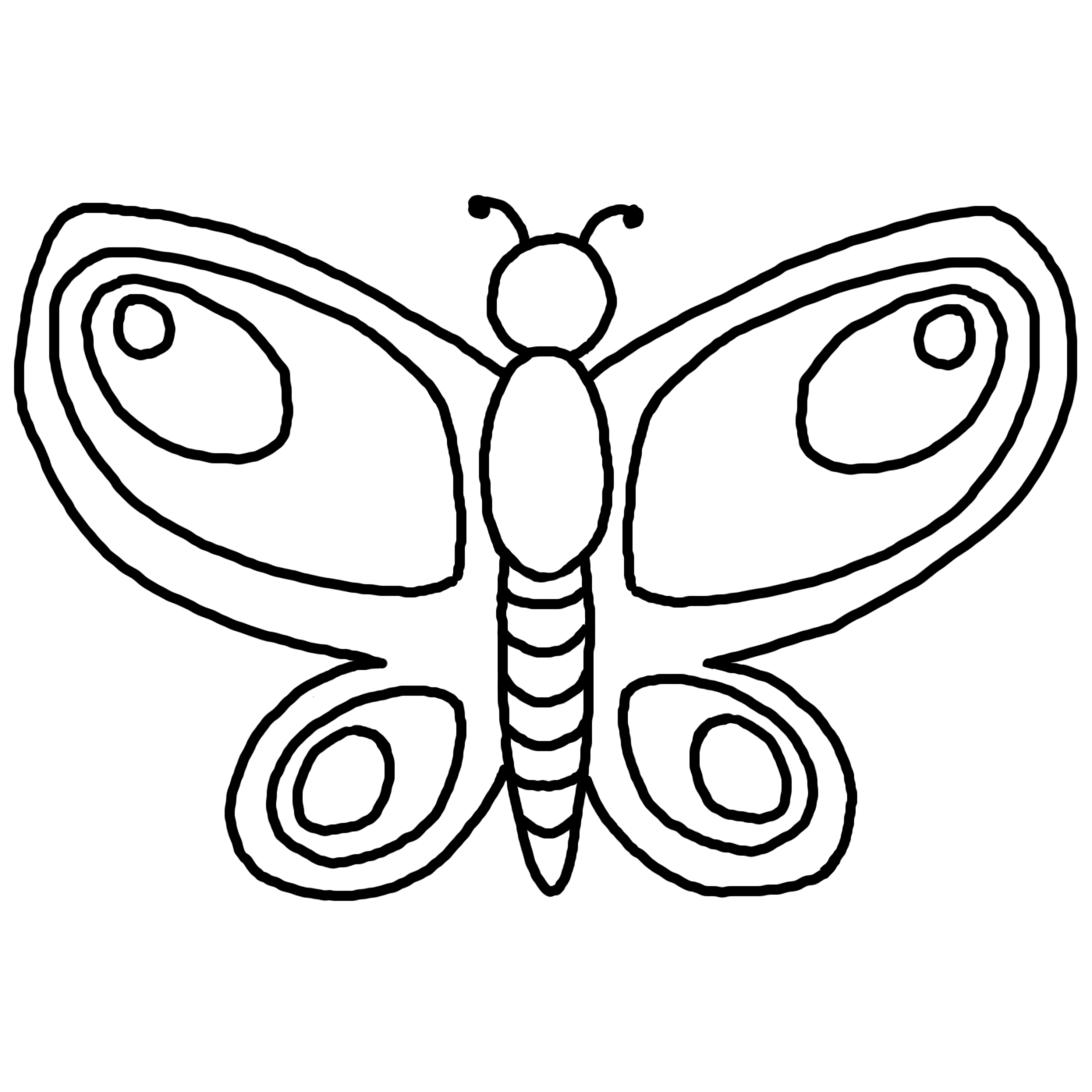 Simple Drawings Of Butterflies - ClipArt Best