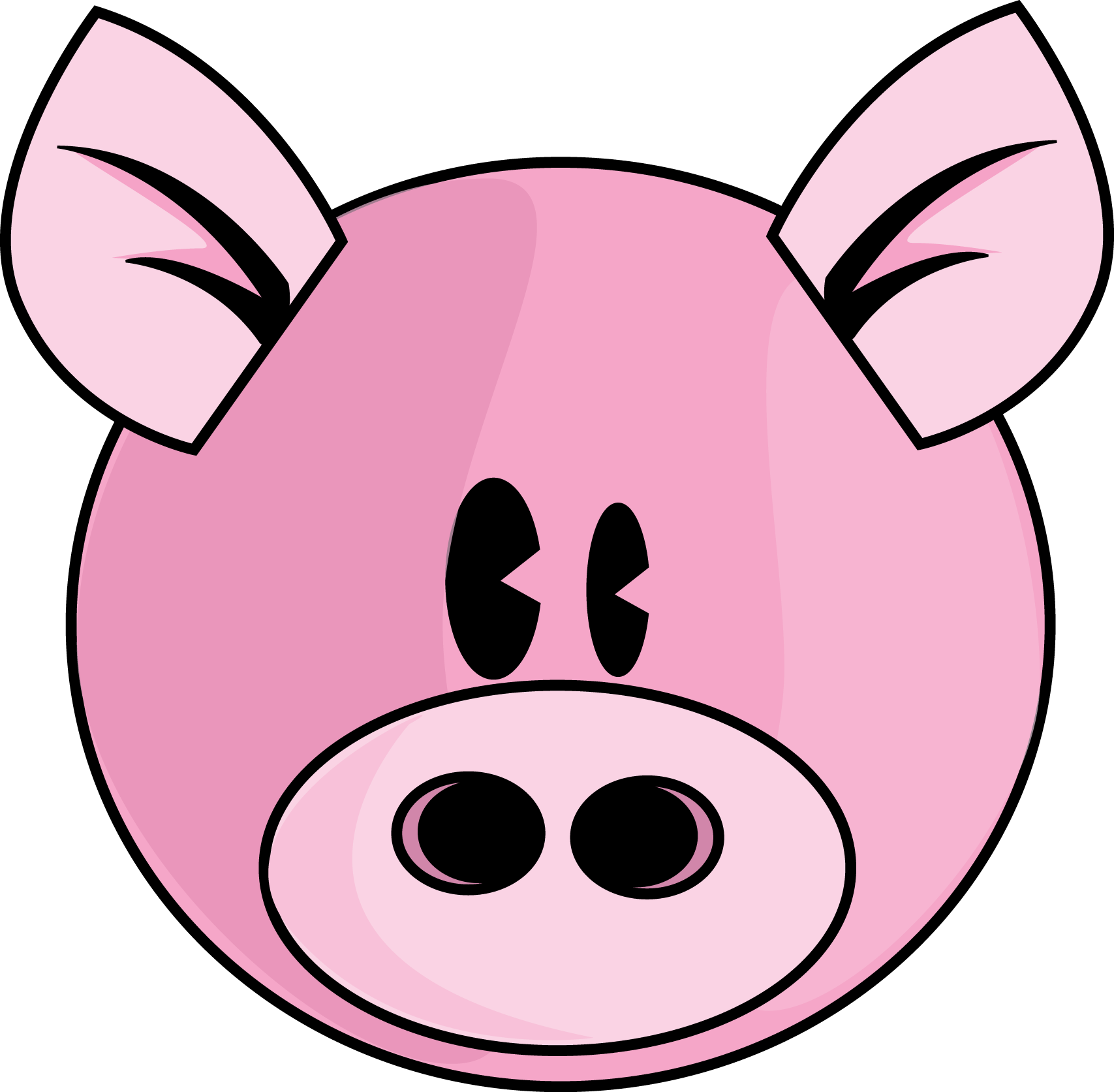 cartoon pig faces   clipart best