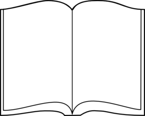 Free Printable Open Book Template - ClipArt Best
