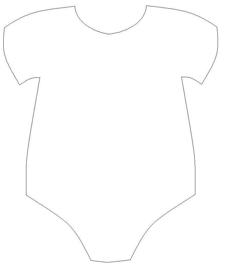 Baby Onesie Outline - ClipArt Best