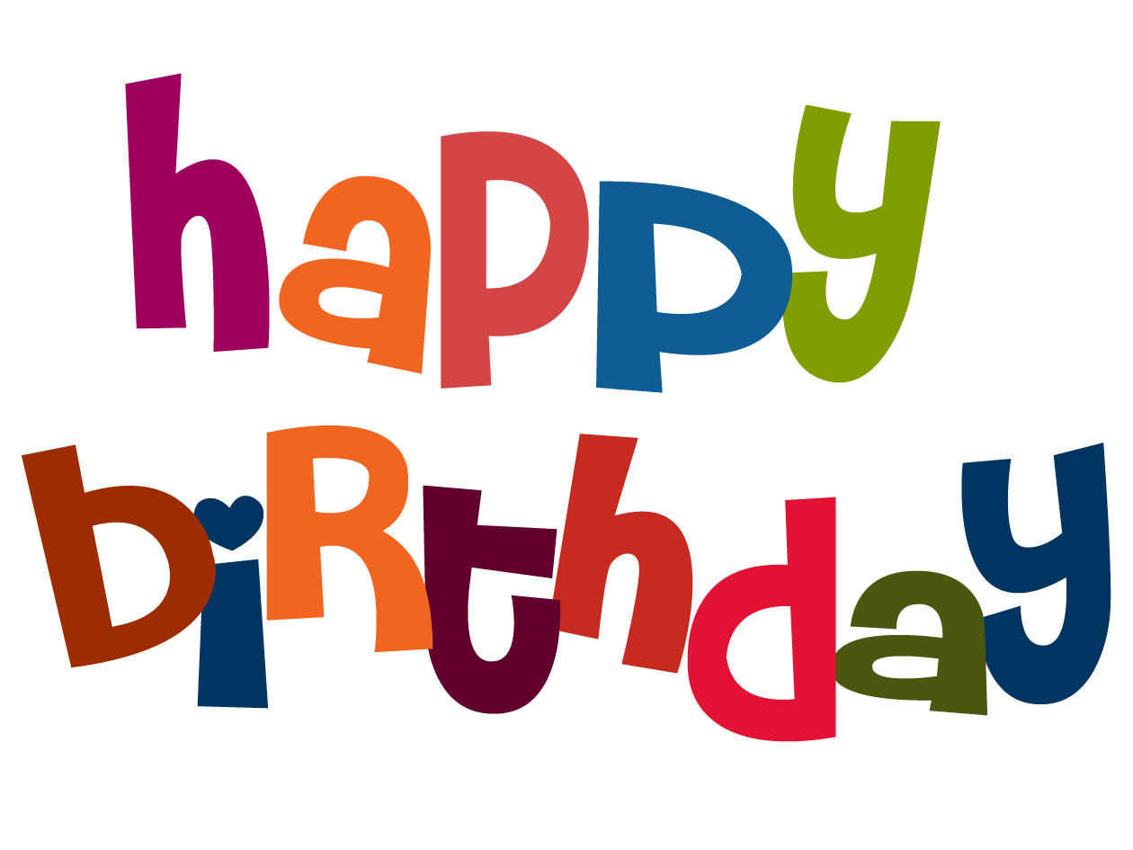 Happy Birthday Word Clip Art - ClipArt Best