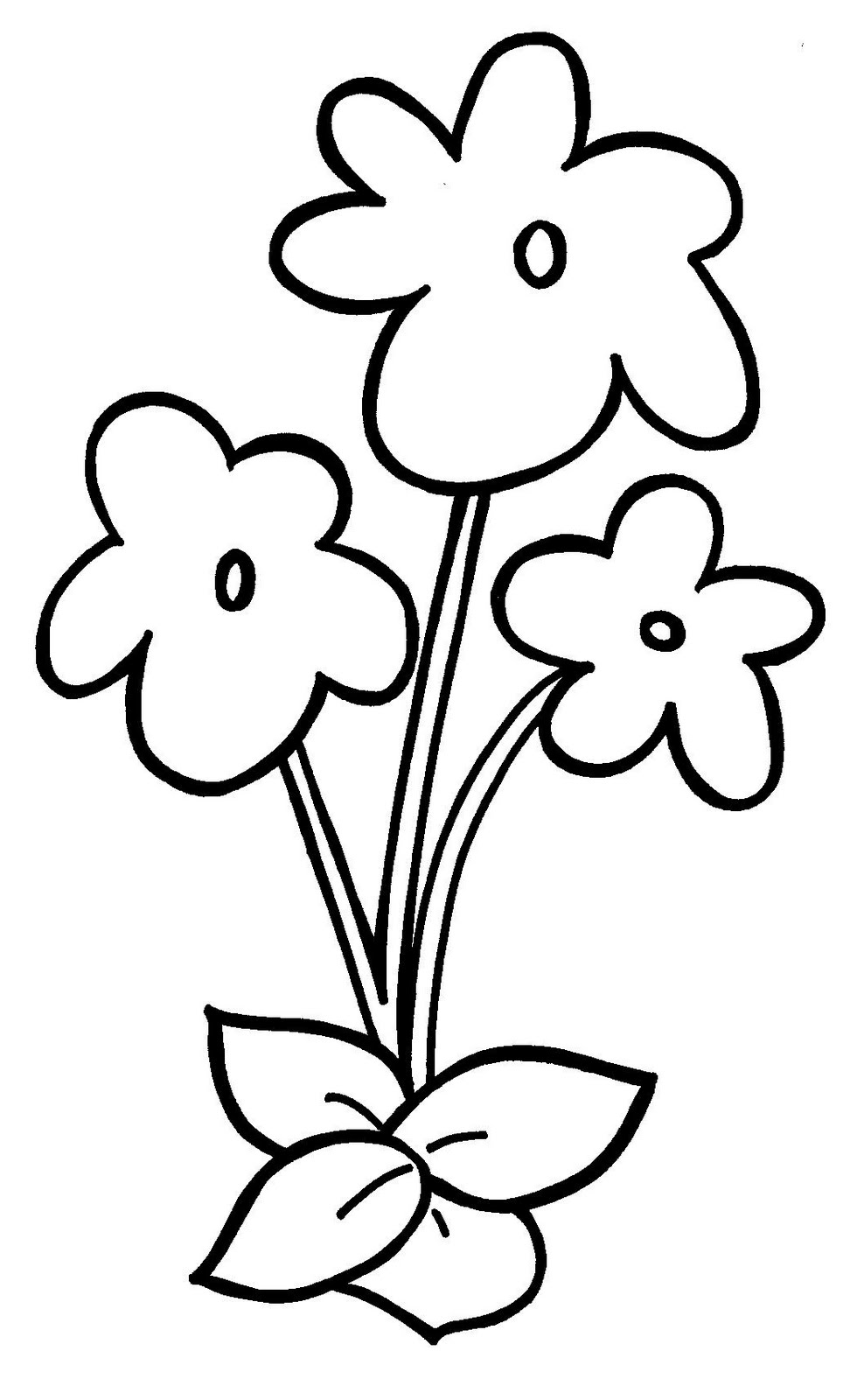 Blank flower images clipart best for Blank flower coloring pages