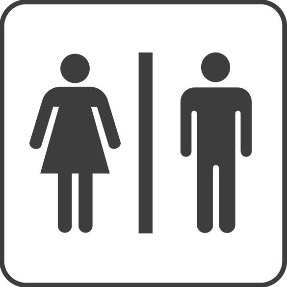 Standard Men/Women Washroom Sign | No cost royalty free stock: www.clipartbest.com/clipart-RTAAjz9bc