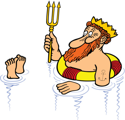 Neptune The God Cartoon Clip Art, Vector Images & Illustrations ...