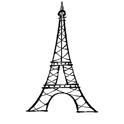 Cas, Eiffel tower drawing and Drawings