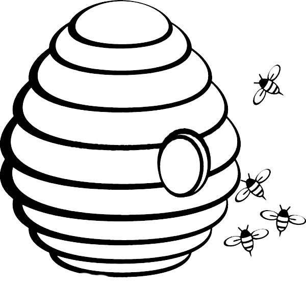 beehive coloring pages - photo#14