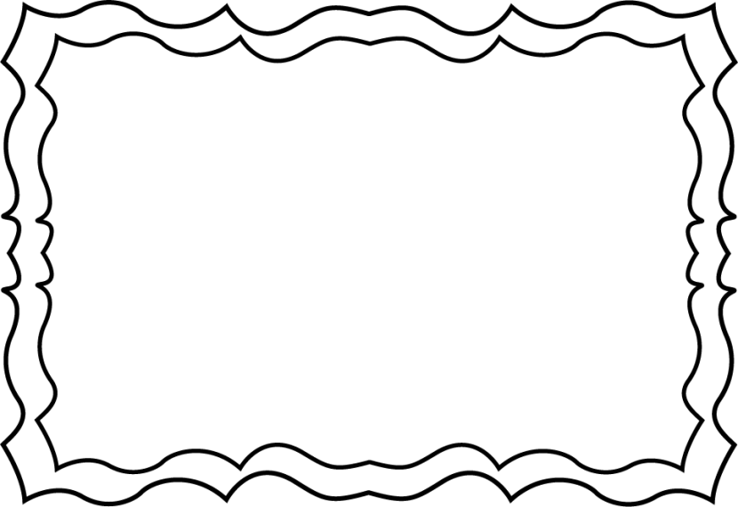 Black and white clipart borders