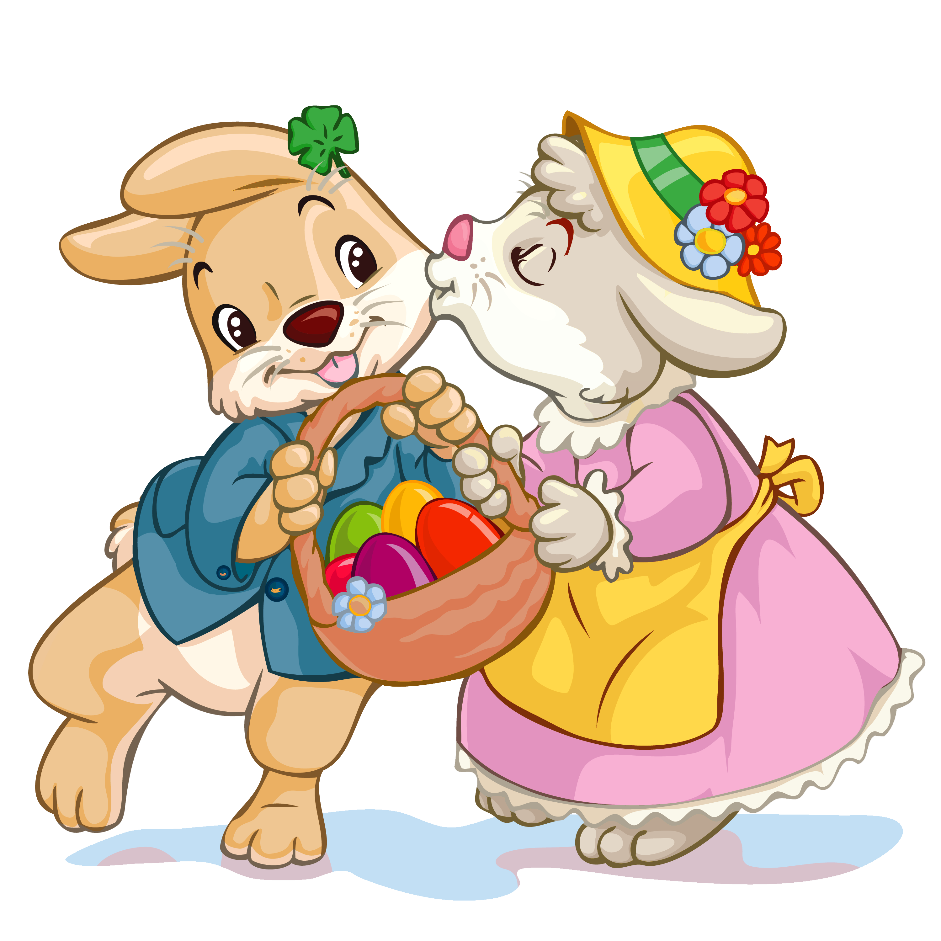 Easter Bunny With Eggs Clipart Easter Bunny Wi...