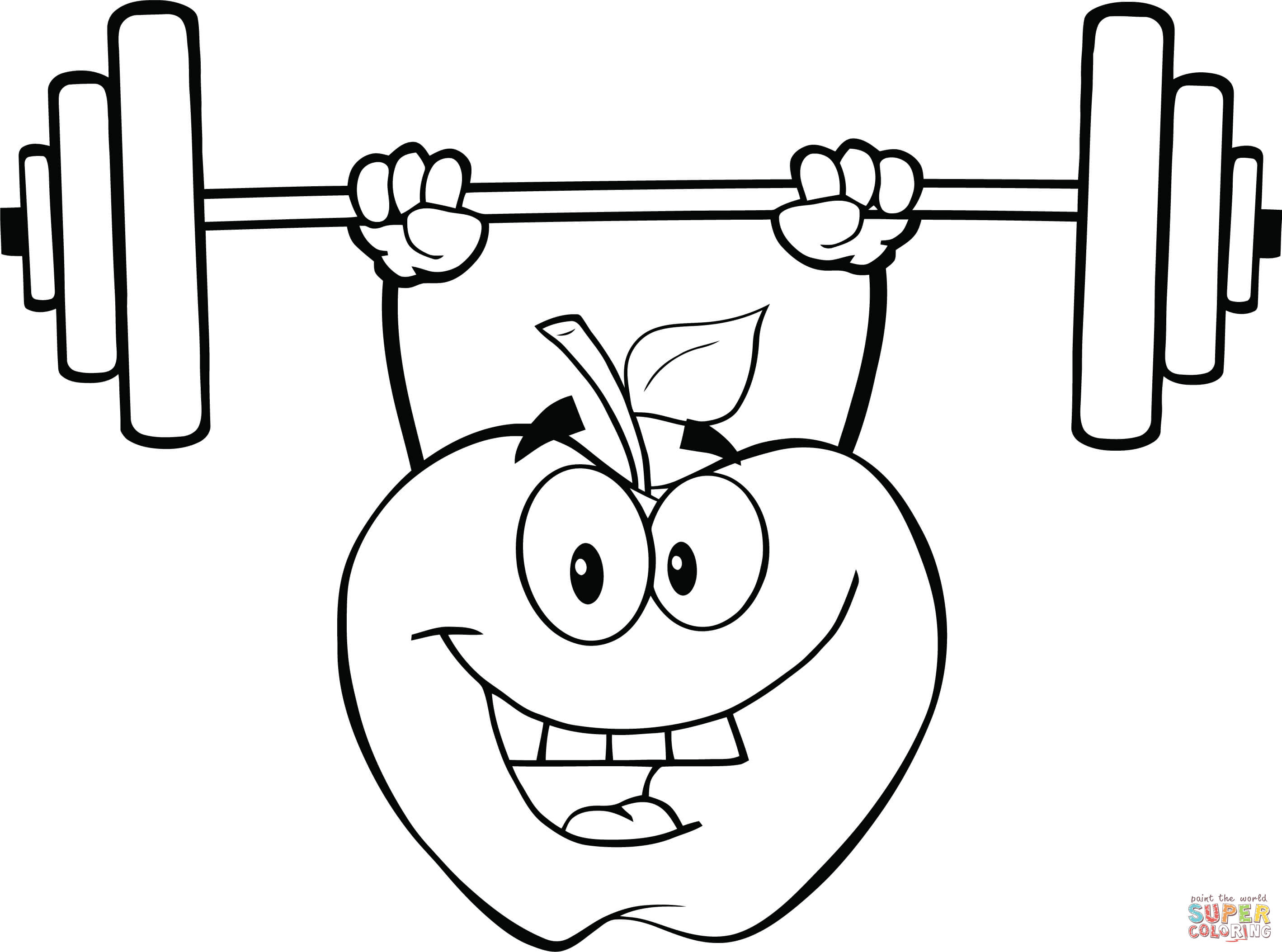 coloring pages weightlifter - photo#22