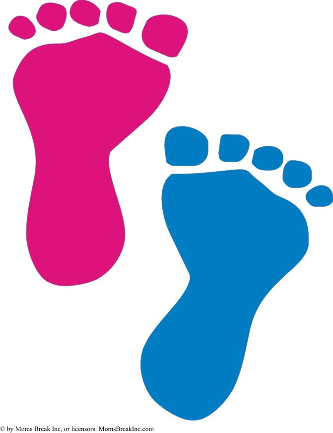 Blue Baby Foot Print Pink Baby Hand - ClipArt Best
