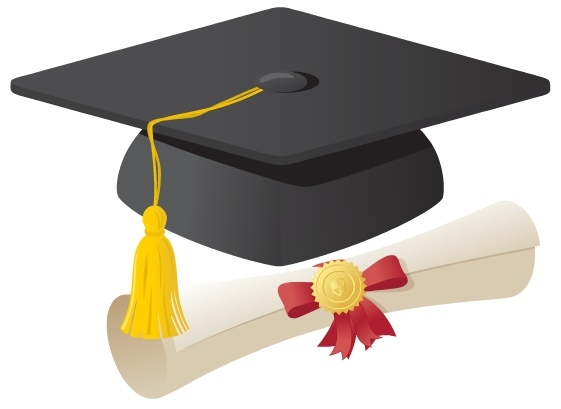 cap and gown clipart best Cap and Gown Book Star Clip Art