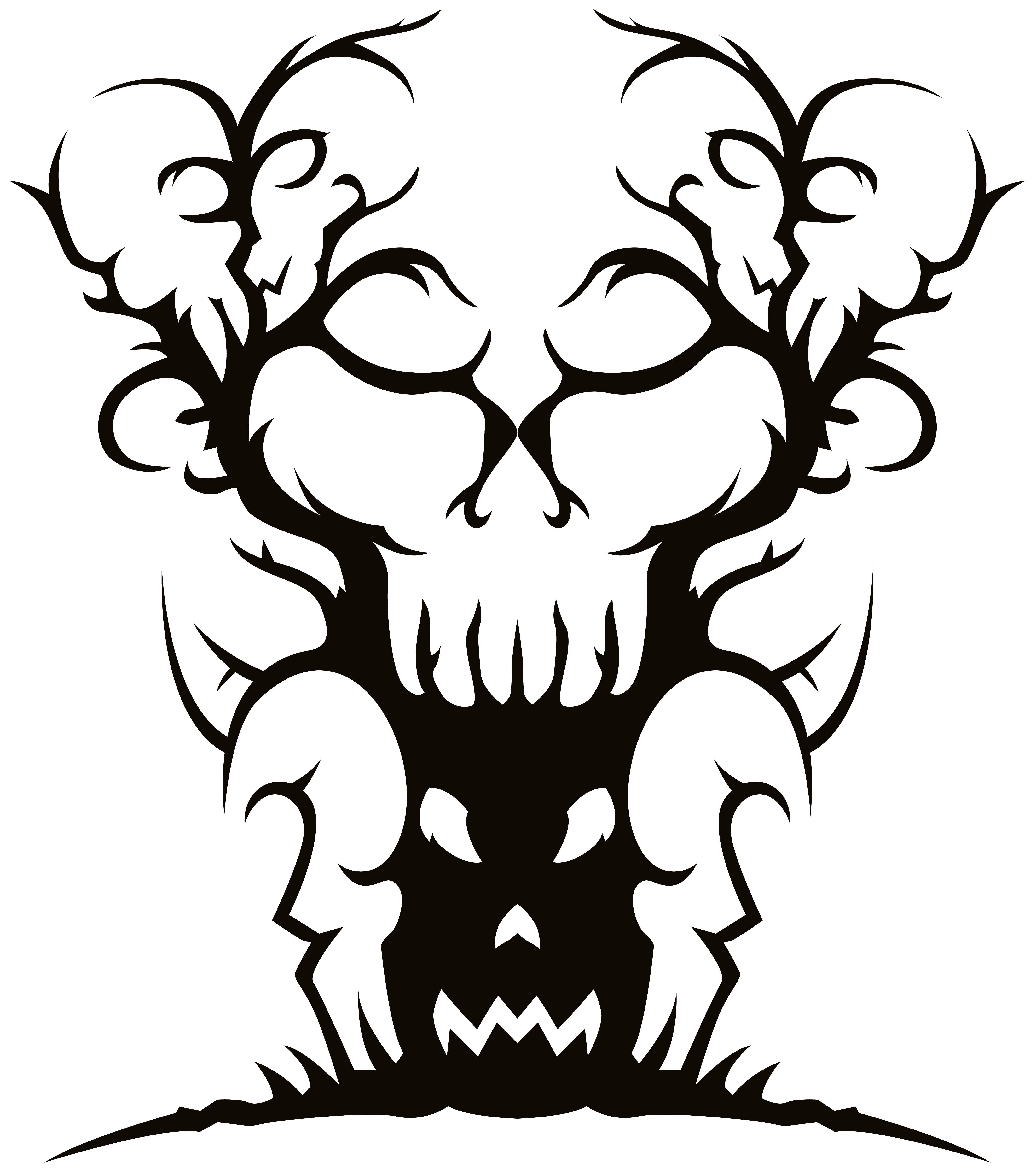 Scary tree clipart best for Creepy trees for halloween
