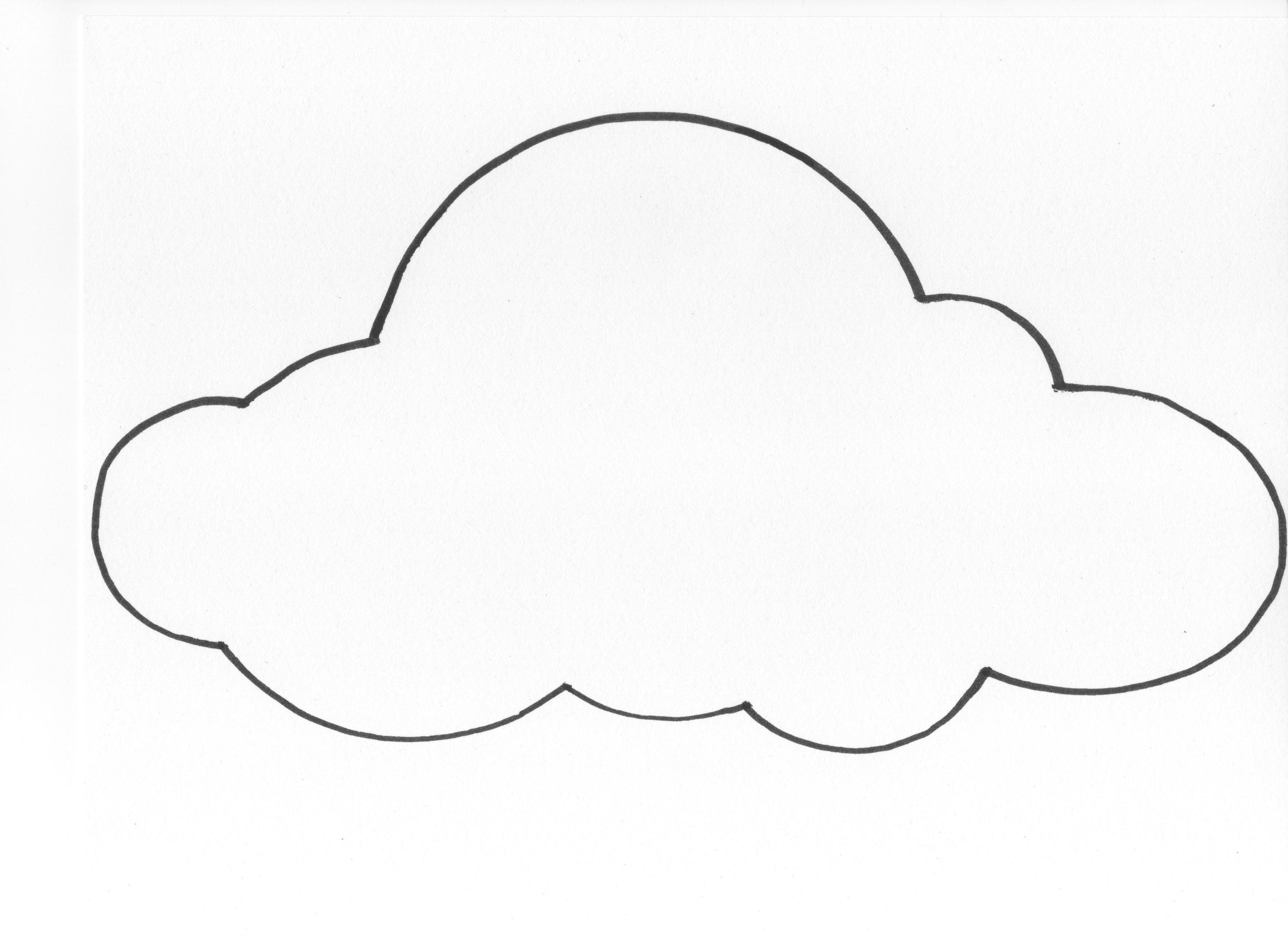Объемные облака из бумаги схемы шаблоны