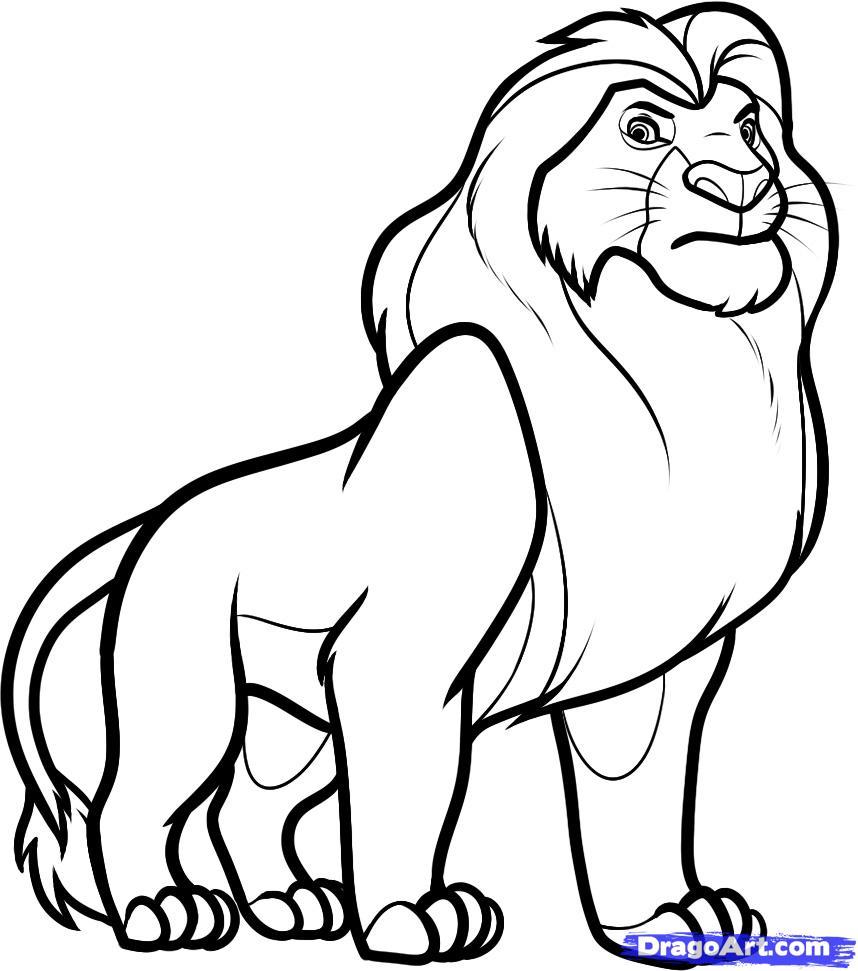 Как рисовать карандашом короля льва