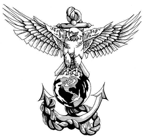 Marine corps eagle globe and anchor clip art