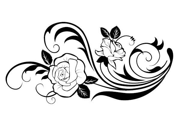 Line Art Flowers Design : Heart and flower tattoo designs clipart best