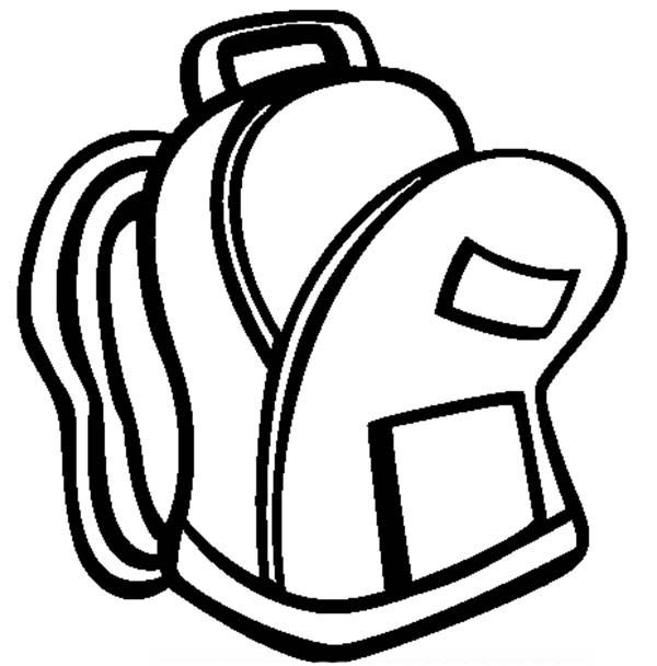 An Open Backpack Coloring Pages | Best Place to Color
