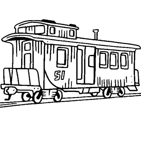 train caboose coloring pages printable - photo#11