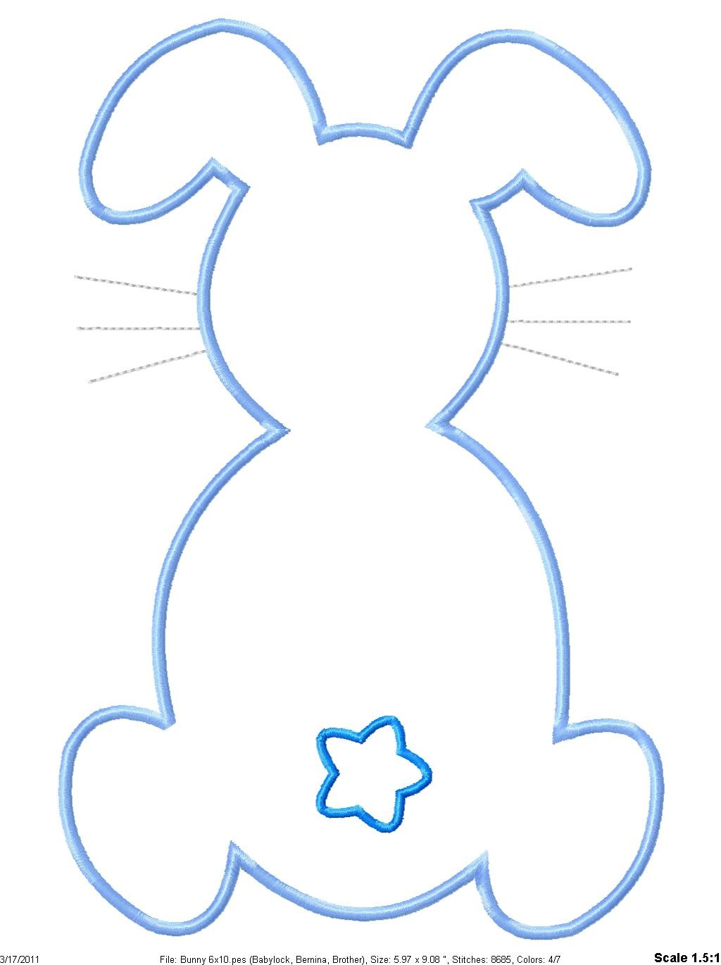 Best Photos of Bunny Template Cut Out To - Bunny Rabbit Template ...