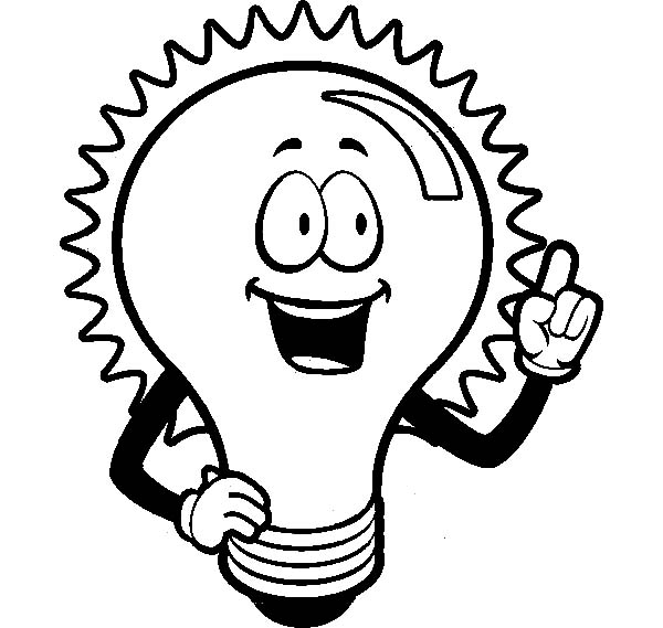 Light Bulb Coloring Pages Clipart Best Light Coloring Page