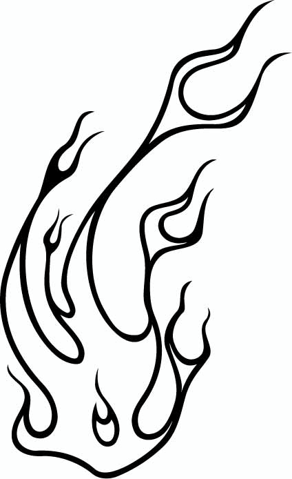 Line Drawing Fire : Free tattoo line drawings clipart best