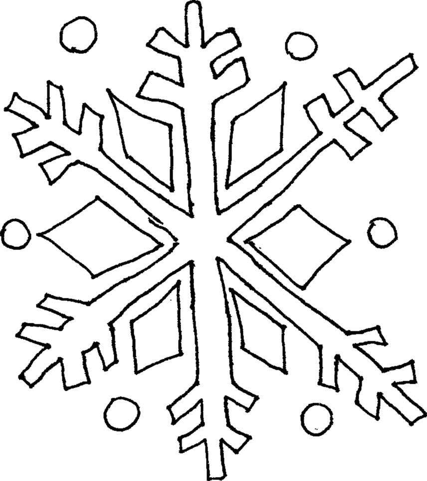 Snowflake Drawing - ClipArt Best