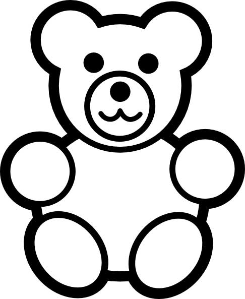 Teddy bears free coloring pages on art coloring pages - Simple Teddy Bear Drawing Clipart Best