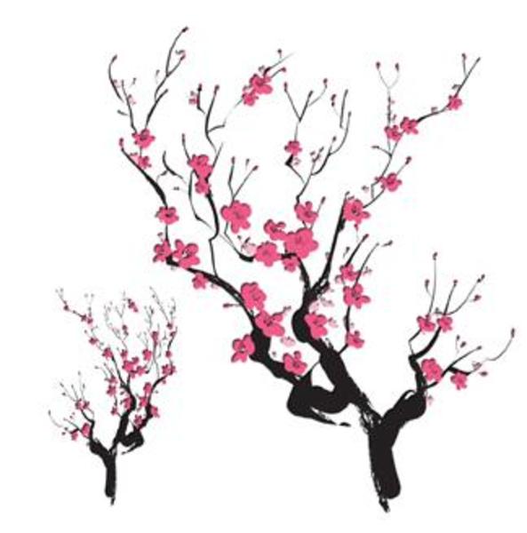 Cherry Blossom Wallpaper Art - ClipArt Best