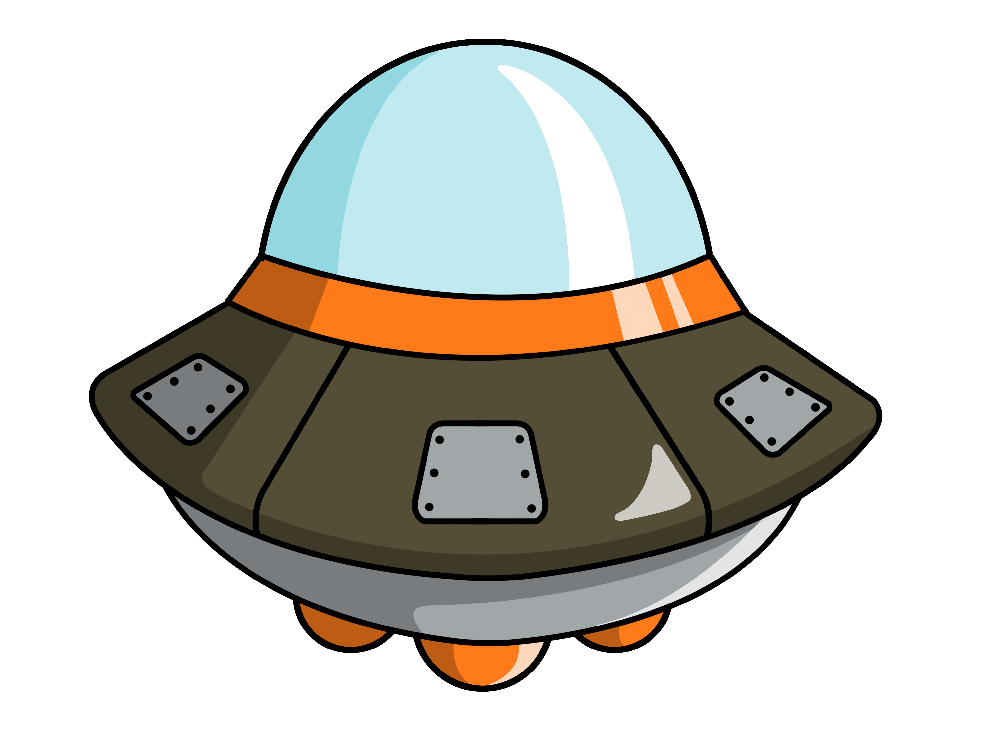 Alien In Spaceship Clip Art