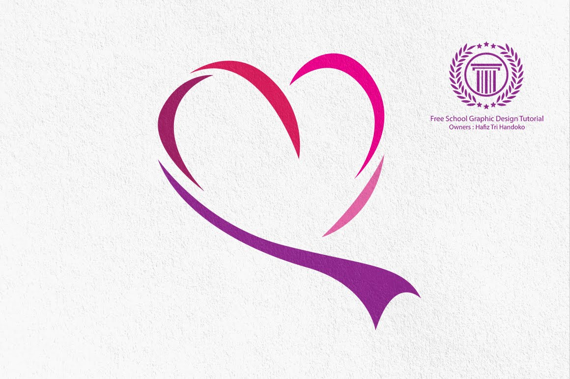 love heart logo design tutorial for beginners - how to make line ...