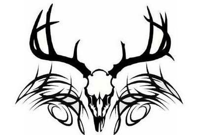 How To Draw Deer Antlers on free deer head silhouette stencil