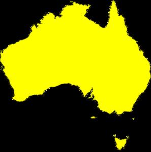 Australia Map Yellow clip art - vector clip art online, royalty ...