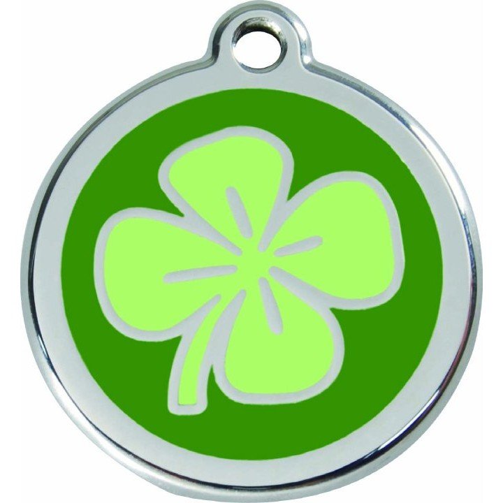 Dog ID Tag | Red Dingo Dog Tags | Four Leaf Clover :: Hip Hound