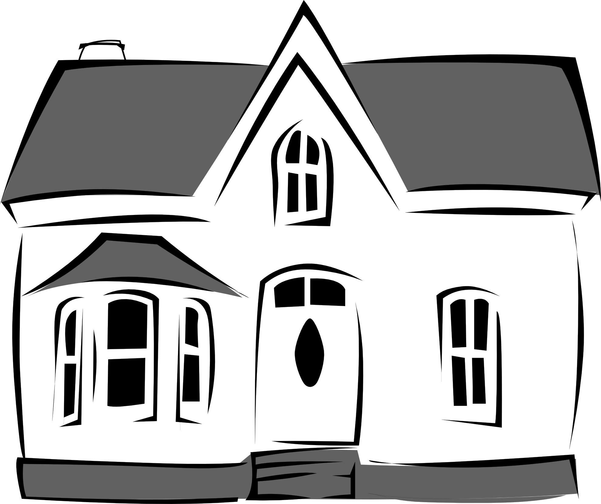 Black and white cartoon house clipart best Black and white homes
