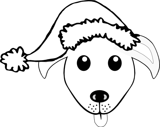 Line Drawing Of A Dog S Face : Dog face free vector clipart best