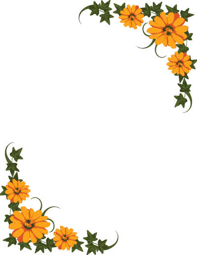 clipart line flower - photo #30