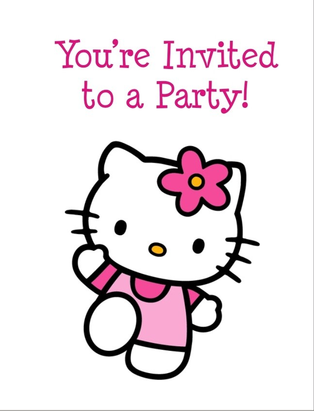 Hello Kitty Free Invitation Templates - ClipArt Best