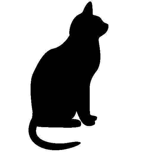 Halloween Black Cat Silhouette Pattern