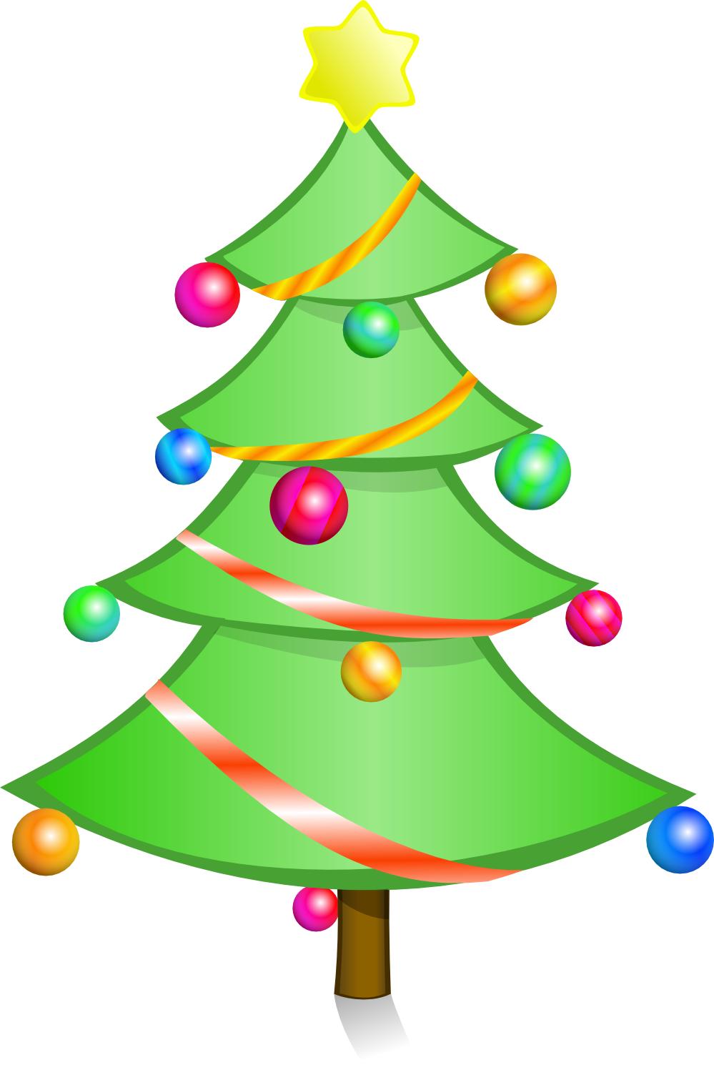 christmas tree decoration cartoon - photo #21