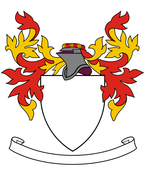 Of Arms Template With Banner - ClipArt Best