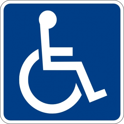 Handicapped Accessible Sign clip art - Download free Other vectors