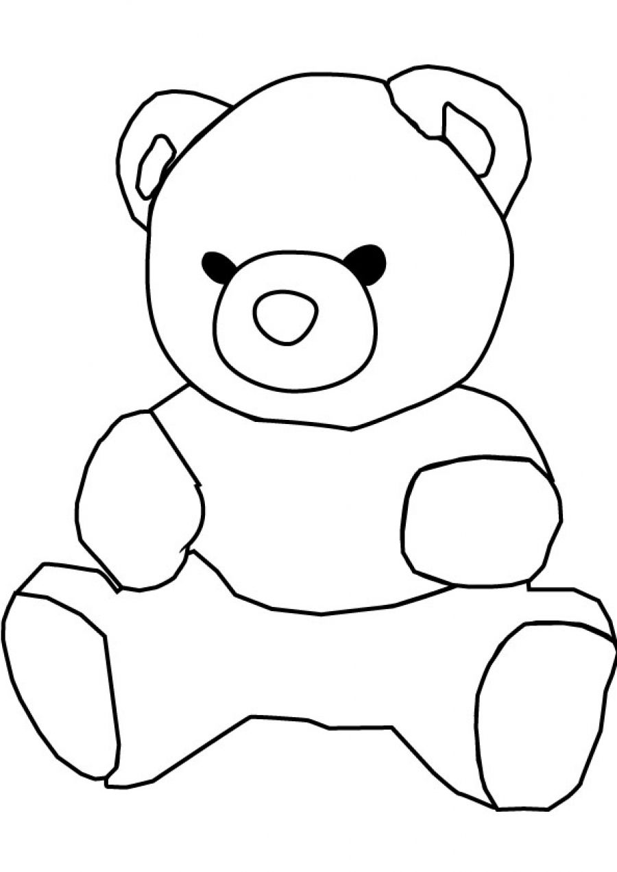 bear kids drawing
