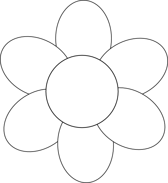 Printable flower petal template clipart best for Flower template 5 petals